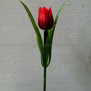 Műanyag tulipán 7 db csokor