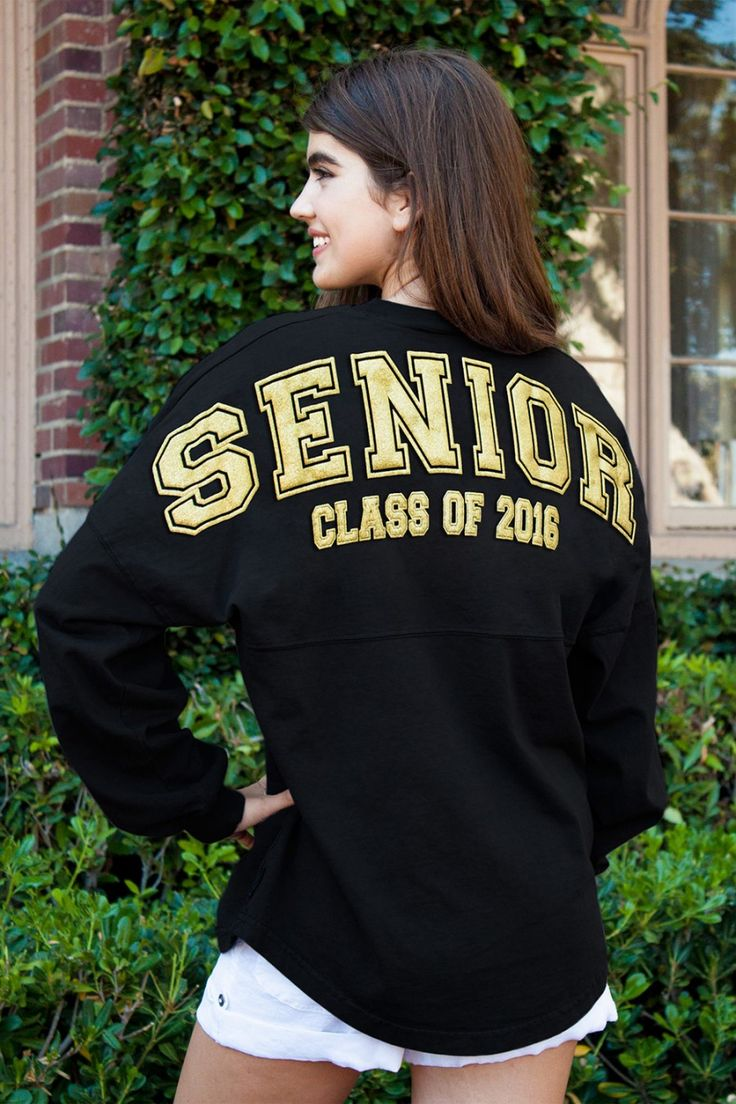 Senior - Class Of 2016 GLITTER PRINT - Classic Crew Neck Spirit Jersey®