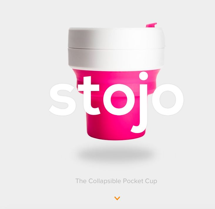 Stojo collasible cups, sold online with #WooCommerce :)