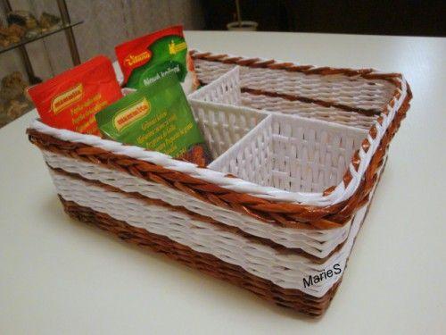 Návod na přepážku do košíku :: Pletení z papíru - vázy 175 cm, 135 cm, 110 cm, postýlky, atd.