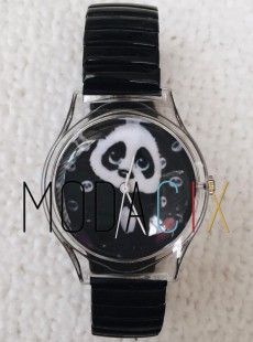 Su Geçirmez Renkli Kordon Sevimli Panda Bayan Kol Saati