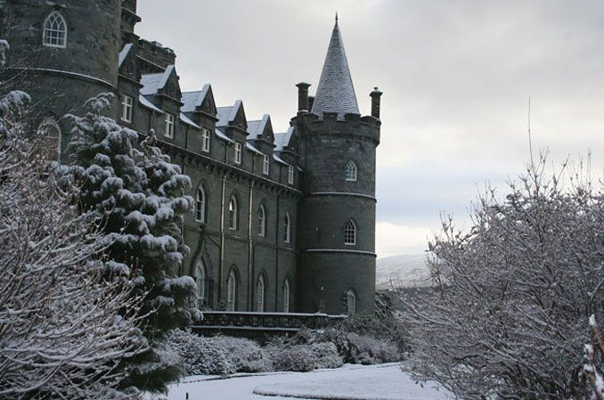Inveraray Castle is a country house near Inveraray in the county of Argyll, in western Scotland, on the shore of Loch Fyne, Scotland's longest sea loch.