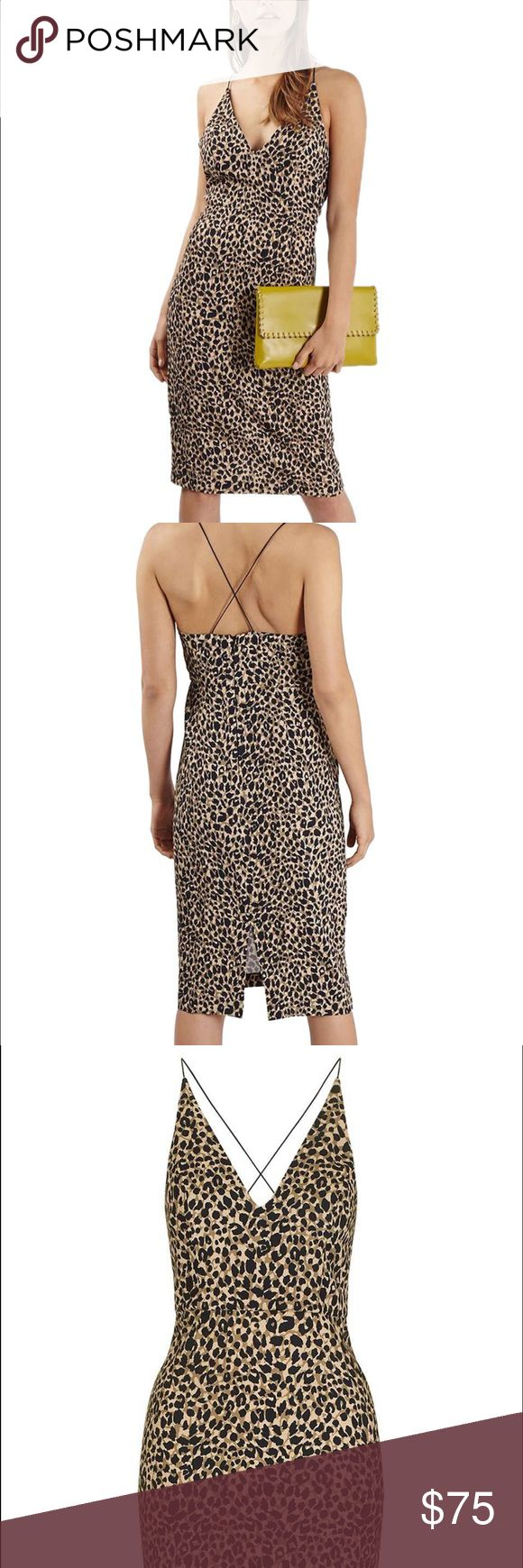 NWT TOPSHOP ANIMAL PRINT BODY CON DRESS Omg.. this dress is uhhhmaaszing!!! Brand new never worn. Topshop Dresses Midi