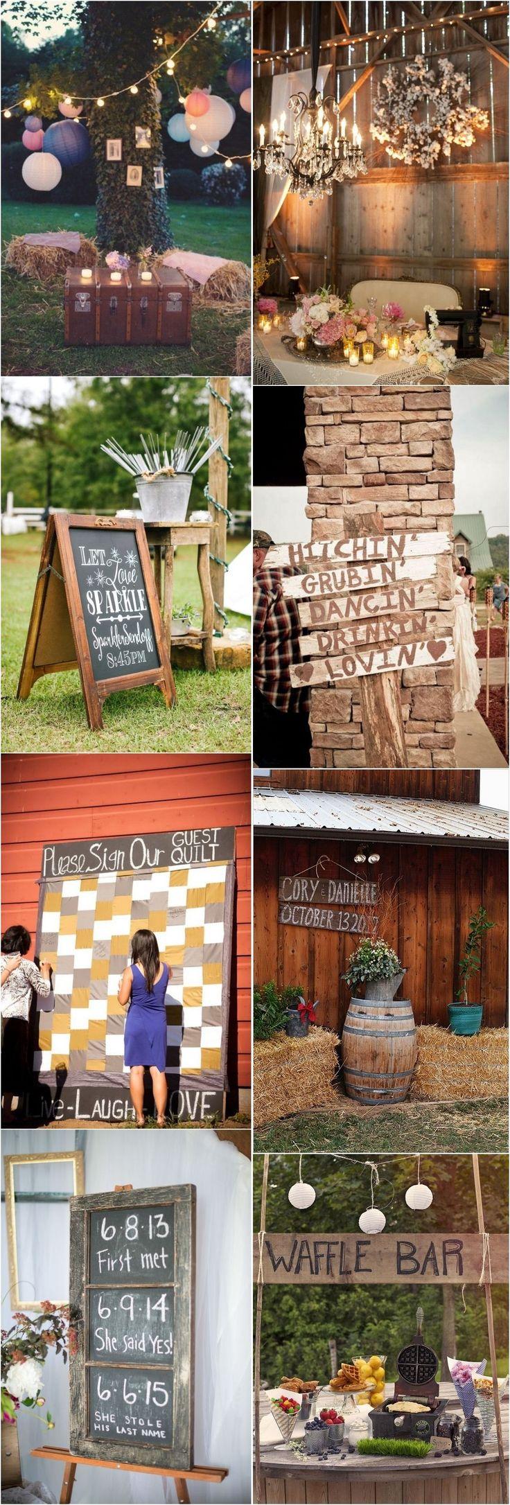 rustic country hay bale wedding decor ideas / http://www.deerpearlflowers.com/country-rustic-wedding-ideas/