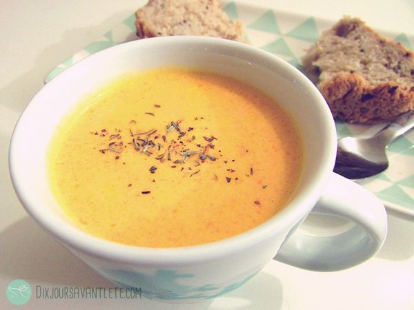 Soupe de carotte très simple, rapide, délicieuse !