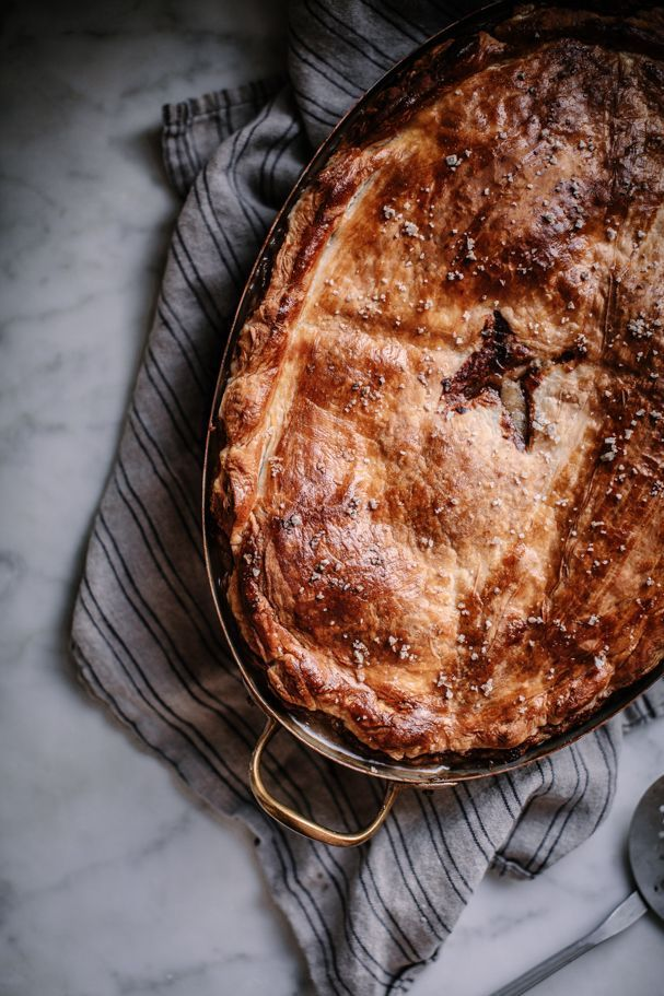 vegetarian wild mushroom, thyme, camembert, and fennel pot pie for thanksiving, christmas, or cozy winter nights by Beth Kirby   Local Milk