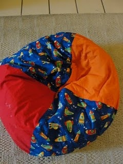 Kids Bean Bag With Packing Peanuts
