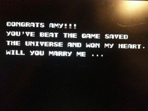 Guy hacks NES Contra game so that when his girlfriend finishes it, she sees a marriage proposal. Mighty slick.