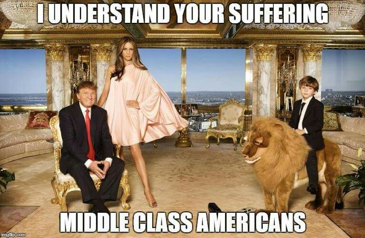 """Trump """"I understand your suffering middle class Americans"""" Don the Con Trump LIES"""