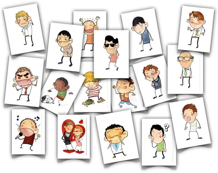 Psicopedagogia Salvador: Cartões para trabalhar sentimentos