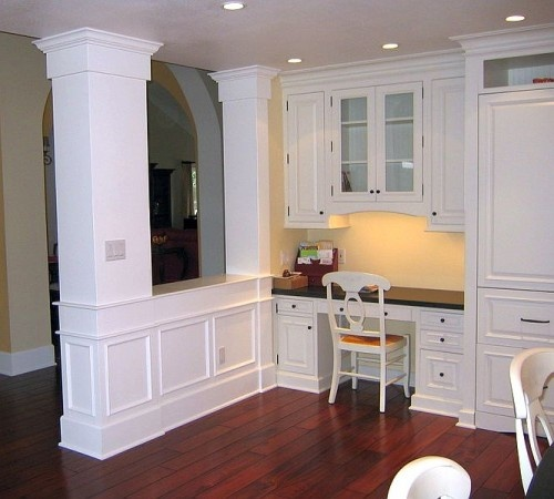 Kitchen Peninsula With Column: 17 Best Images About Open Flow Wall Colors On Pinterest