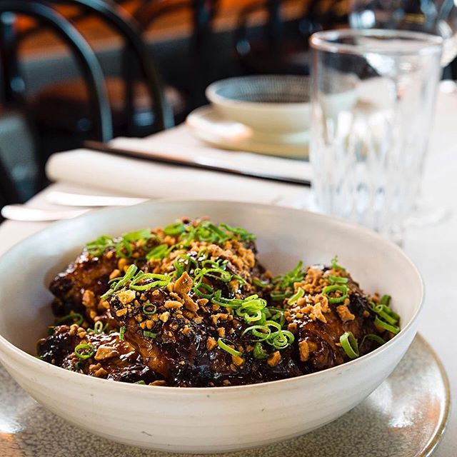 Our Chicken wings w sticky kapis manis peanuts & shallots is sure to warm you through and make you forget about this terrible weather we've been having! See you tonight. #chinadiner #chickenwing #dinner #peanuts #friday #sydneyfoodshare #sydneyfood #sydneyfoodie #chicken  #chickenwings #wings #bondi #bondibar #bondieats #bondifood #bondifoodie #friday #friyay #fridaynights #nightout