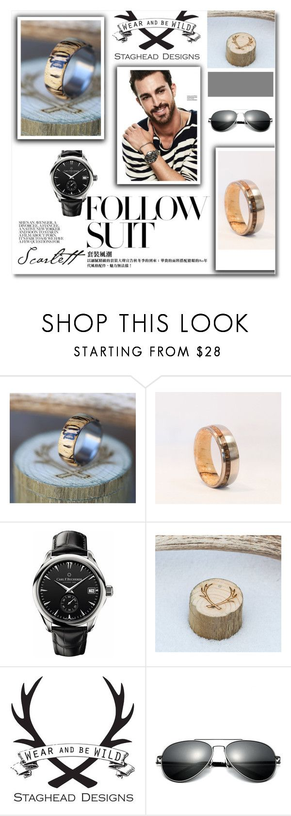 """""""// StagHeadDesigns //X"""" by nura-akane ❤ liked on Polyvore featuring Carl F. Bucherer, men's fashion and menswear"""