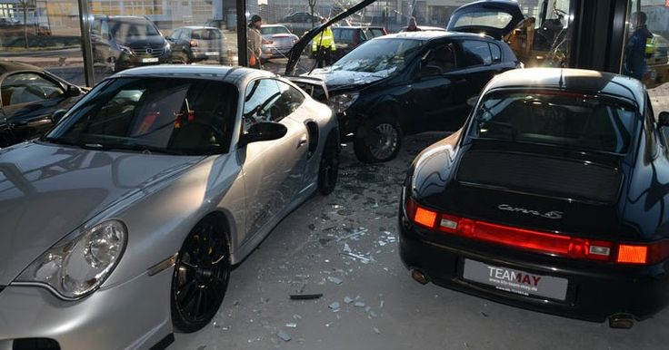 Man Crashes Opel Astra Into A Porsche Dealership #Accidents #Dealers