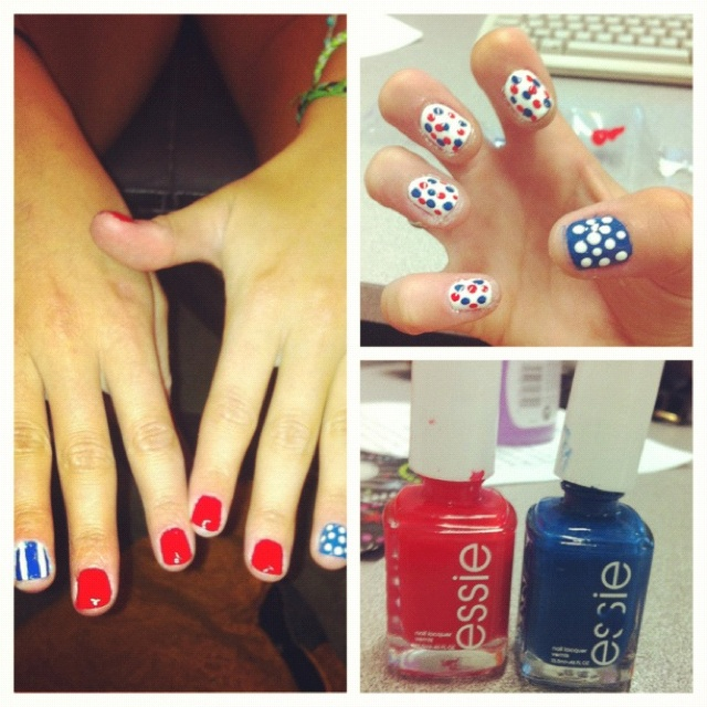 Forth of July nails!!