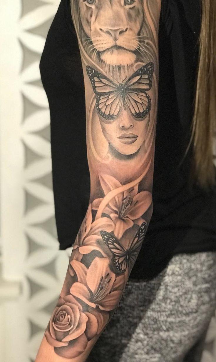 Arm Tattoo em 2020 Tatuagem braço inteiro feminino