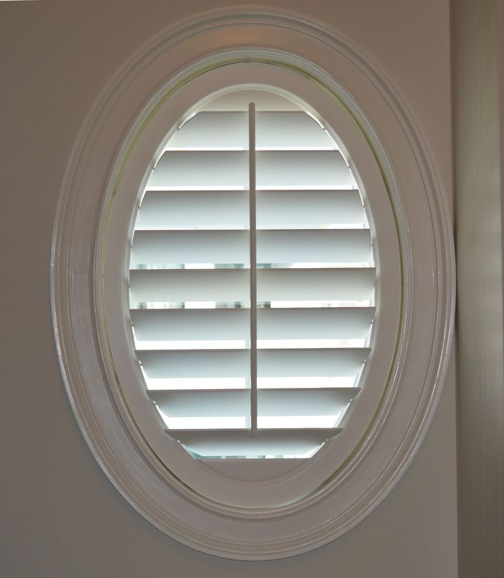 31 best plantation shutters images on pinterest shutters for Window treatment for oval window