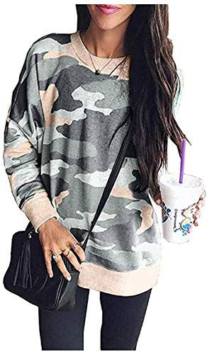 New Women's Print Long Sleeve Crew Neck Camouflage Casual Sweatshirt Pullover Tops Shirts. Women Hoodies Sweatshirts [$27.48] from top store theveryhotnew