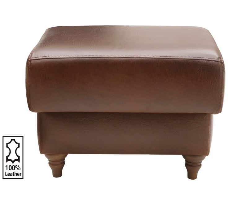 Buy Heart of House Argyll Leather Storage Footstool - Tan at Argos.co.uk - Your Online Shop for Footstools, Living room furniture, Home and garden.