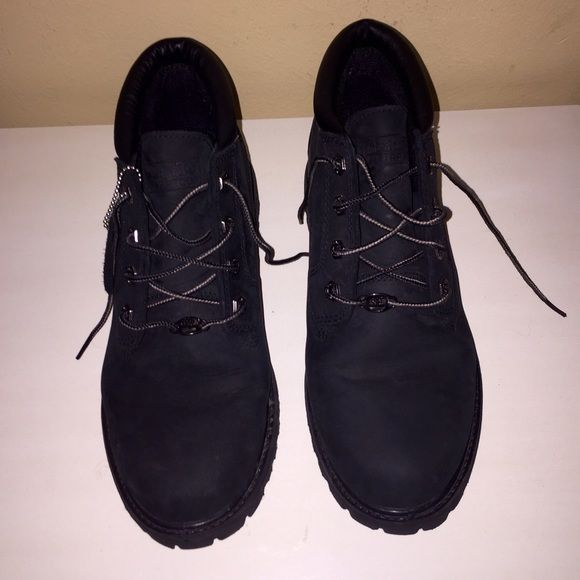 Black Timberland Boots! Practically new all black Timberland Boots! They've only been used once. Are extremely comfortable and look exactly as they do in the pictures. They are a size 9.5! Timberland Shoes Ankle Boots & Booties