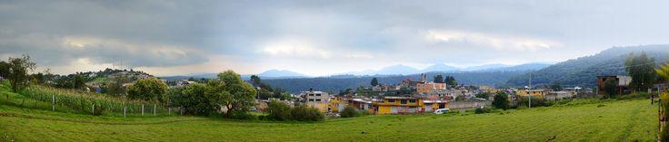 Panoramica de Tlazala centro. - Panoramic of Tlazala, state of Mexico.