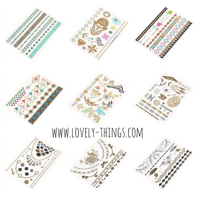 Neue Metallic Tattoos! Jetzt im Shop erhältlich! ♡ New tattoo designs available in our shop // www.lovely-things.com #lovelythingscom https://instagram.com/p/00jQvUlwPf/www.lovely-things.com #lovelythingscom https://instagram.com/p/00jQvUlwPf/