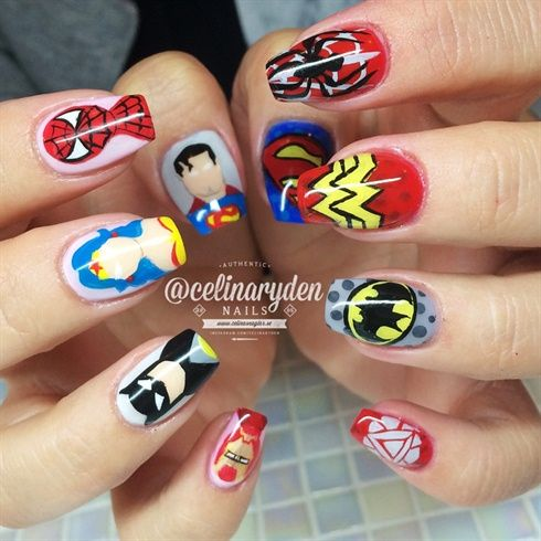 Super Heroes by Celinas_Ryden on Nail Art Gallery