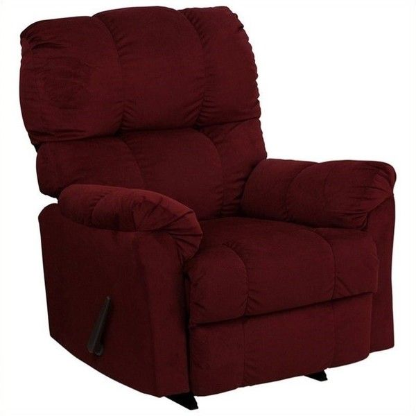 Flash Furniture Contemporary Top Hat Rocker Recliner ($354) ❤ liked on Polyvore featuring home, furniture, chairs, recliners, burgundy, contemporary recliner chair, flash furniture, flash furniture recliner, contemporary chairs and modern contemporary chairs