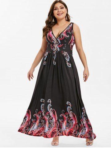 a67d6b821c6 Tribal Print Plus Size Maxi Dress - MULTI - 4X
