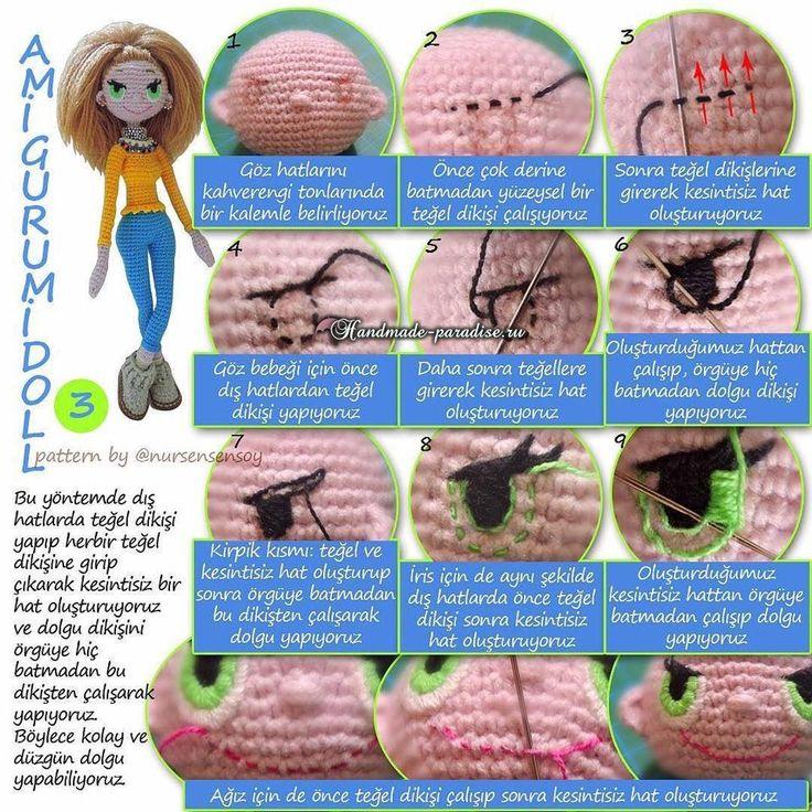 Амигуруми. Куколка Модница крючком (9)