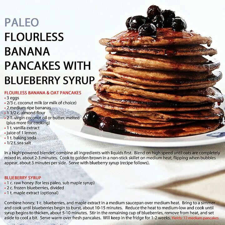 Flourless pancakes. Yay we can enjoy breakfast just the same without compromising our health :)