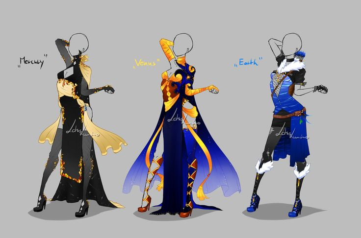 Outfit design - Planets 1 - closed by LotusLumino on DeviantArt
