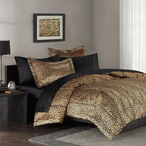 cheetah print bed spread | Mainstays Leopard Print Bedding Comforter Mini Set