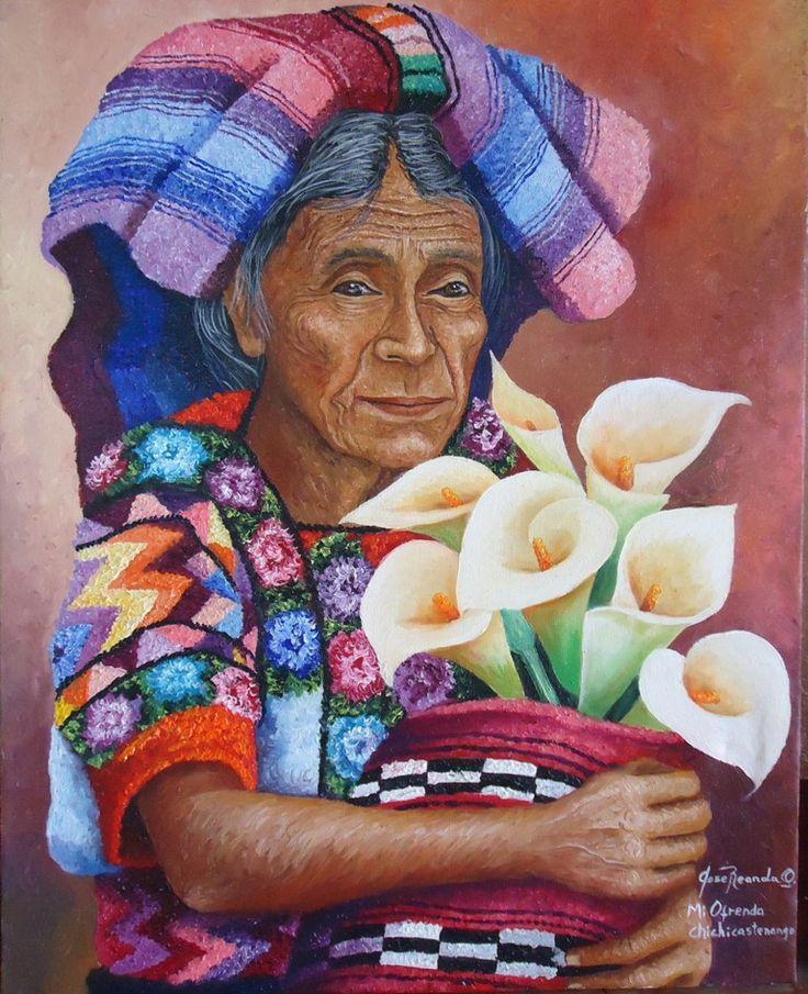 Lake Atitlán, San Pedro la Laguna in Solola, Guatemala. Profits from selling the Mayan Sacred Paintings go to support Mayan childre...