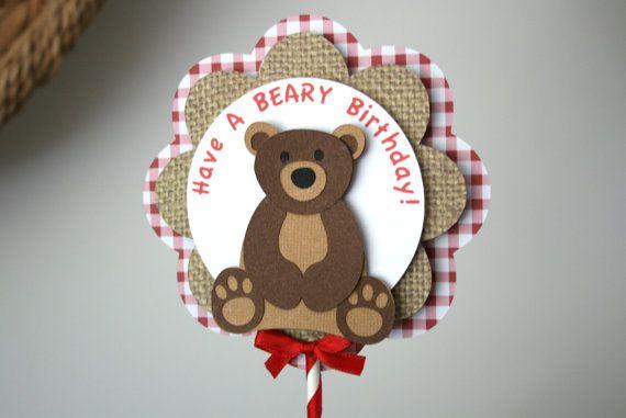 Teddy Bear Picnic Centerpiece Have A BEARY by treelittlebirdz