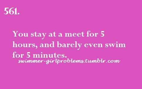 ... those poor parents... it's time to encourage your swimmer to like distance events. ;-)