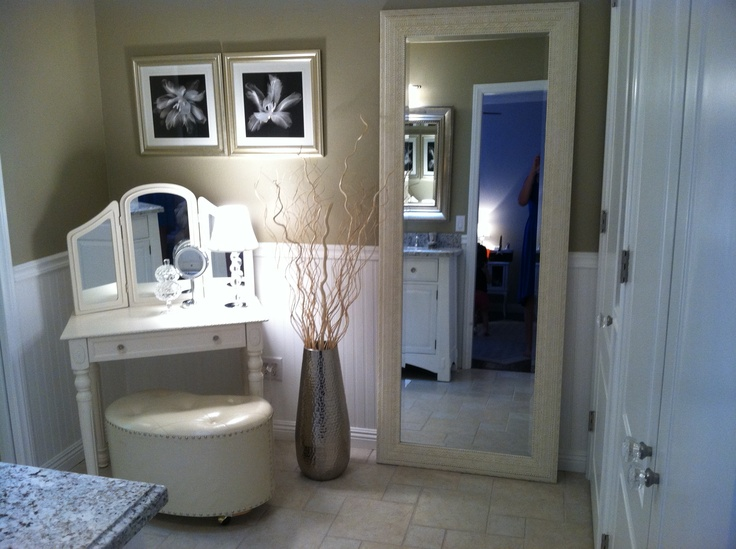 98 best images about make up vanity on pinterest diy - Master bedroom and bathroom paint colors ...