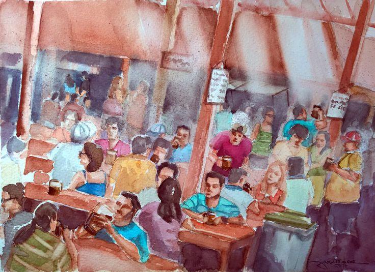 Beer Fest (Watercolour)