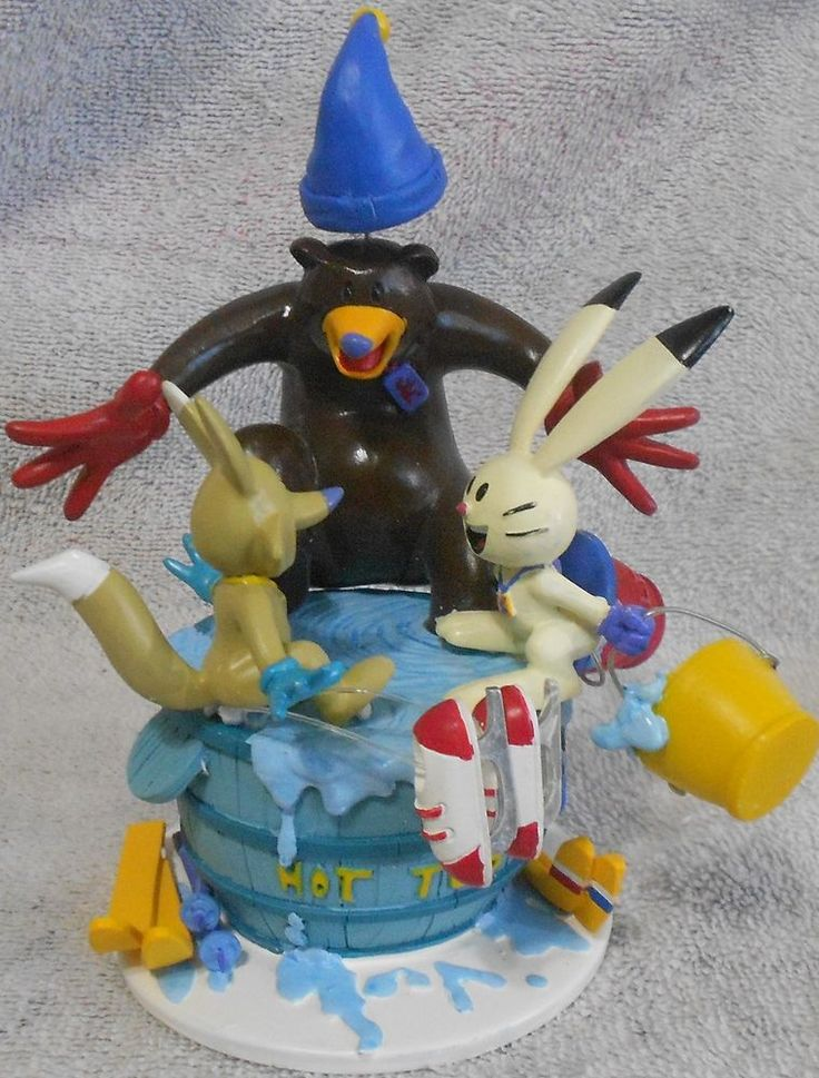 2002 Salt Lake Olympic Mascots Bobblehead Hot Tub - Powder Copper Coal  | eBay