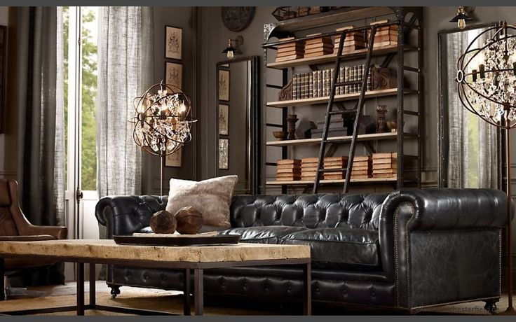 Kensington Chesterfield Ledersofa - 2,5-Sitzer Schwarz Sofa, Nero, Ebony - sir Chesterfield