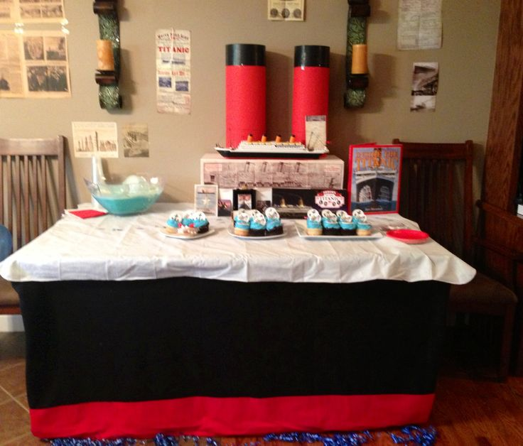 Titanic Themed Birthday Party Decorated Dining Table