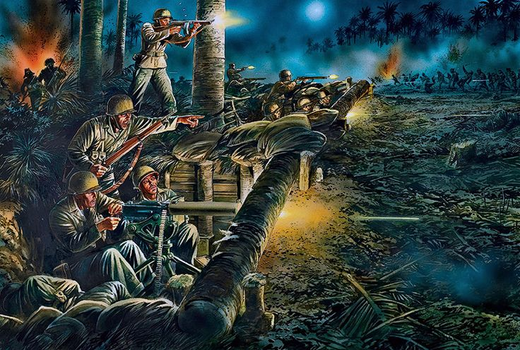 """Heroic stand on Bloody Ridge, Guadalcanal, night of October 24–25, 1942"""