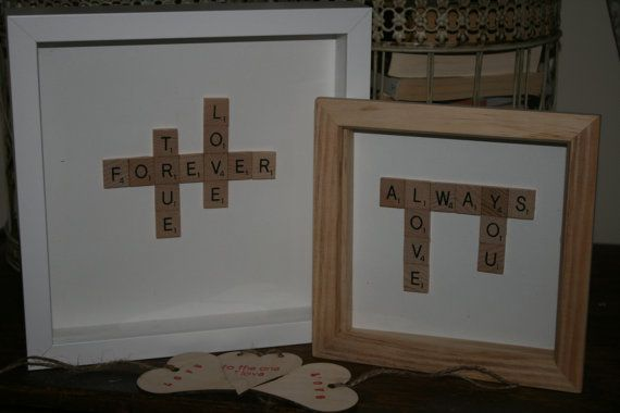 love picture love art scrabble art by TLRDCrafts on Etsy