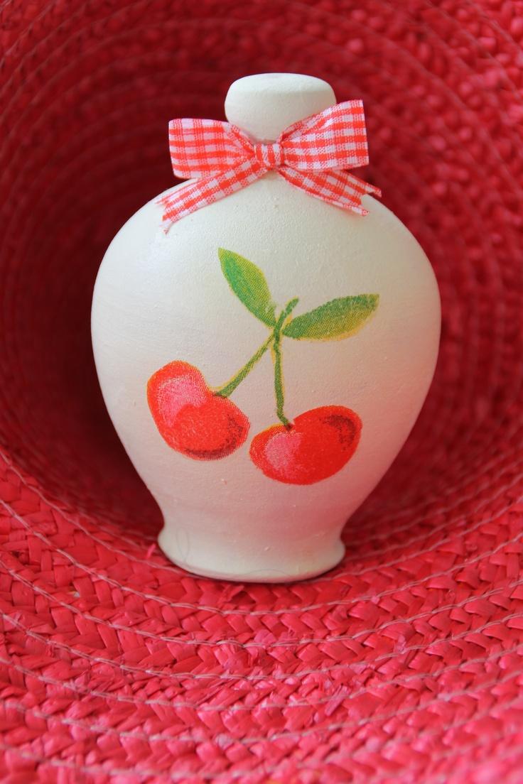 #save money #cherries!! #summertime #handmade #decoupage