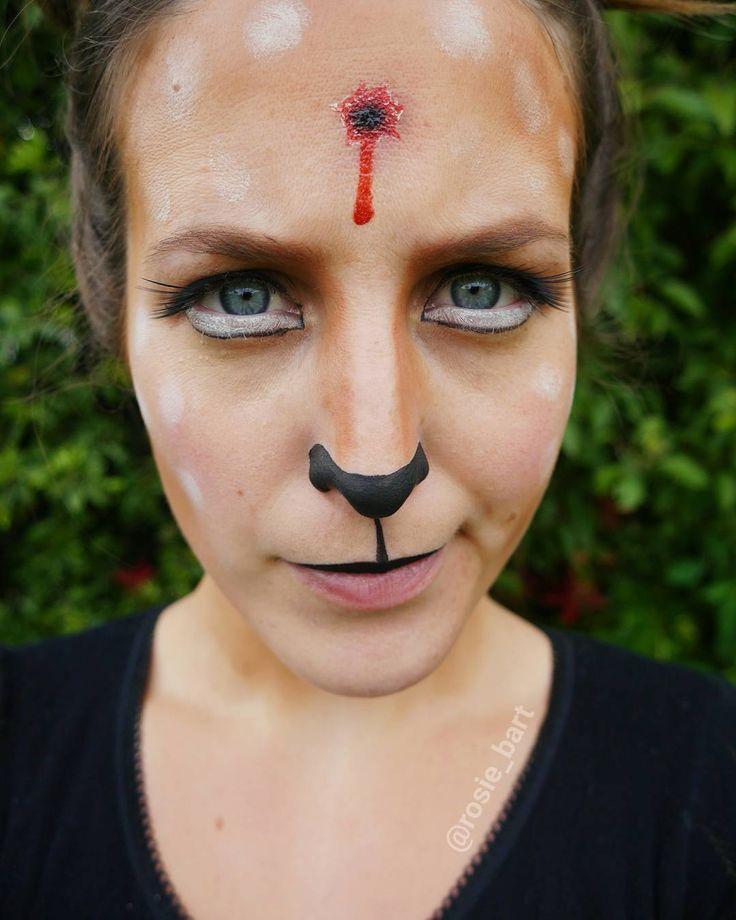 ...how rude!... (others have called this look Bambi's Mother #toosoon ) (@rosie_bart) on Instagram #deer #halloween #facepaint #cosplay