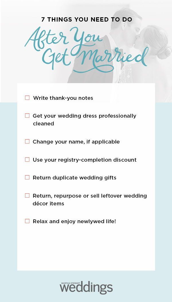 7 Things You Need To Do After You Get Married Wedding Checklist Wedding To Do List Checklist