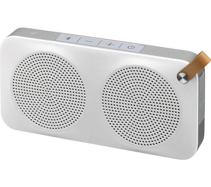 JVC SP-AD90-BW Portable Wireless Speaker - White