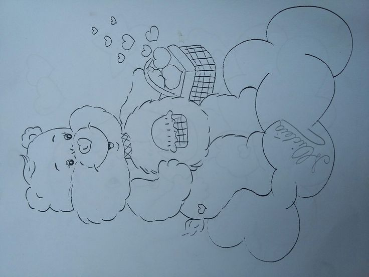 Riscos da Micka:  Ursinhos Carinhosos.