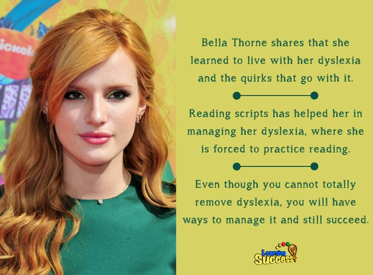 Actress Bella Thorne has found was to cope with her dyslexia thanks to her career.
