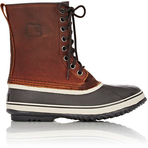 Sorel Men's 1964 Premium™ T Snow Boots (9.780 RUB) ❤ liked on Polyvore featuring men's fashion, men's shoes, men's boots, brown, mens brown boots, mens lace up boots, mens waterproof boots, mens flat shoes and mens waterproof snow boots